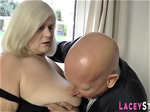 plowed granny breasts humped