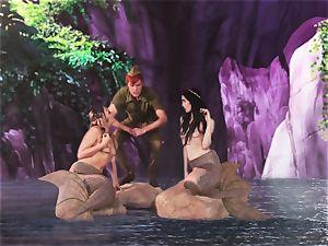 molten mermaid 3 way with Aiden Ashley and Mia Malkova