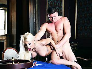 cooch thrashing roulette with crazy platinum-blonde honey Chloe Lacourt