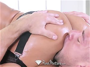 PUREMATURE ginormous titty cougar Phoenix Marie ravage with facial cumshot