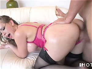 HOTGOLD magnificent Kagney is insatiable for man meat