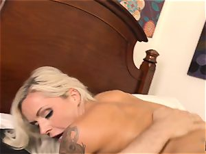 scorching platinum-blonde Nina Elle wedged firm by Tommy Pistol