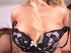 Mia Malkova unclothes off and thumbs her delicious cooch