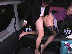 fucked IN TRAFFIC - Christmas car fuck-a-thon with Swedish stunner
