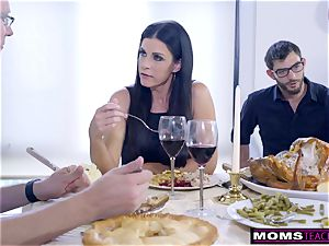 mommy pummels son-in-law And munches internal ejaculation For Thanksgiving treat
