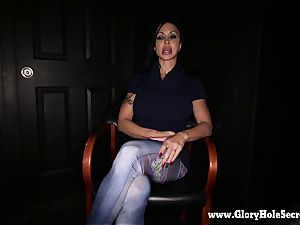Gloryhole Secrets Buff babe clitties Jade Interview in GH