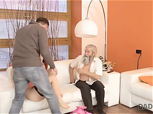 DADDY4K. stud and his elderly daddy squad up to punish promiscuous girlfriend