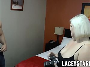 LACEYSTARR - GILF entices thick dicked otter into penetrating