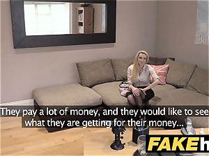 faux Agent UK amateur large titties milf inhales rod for cash