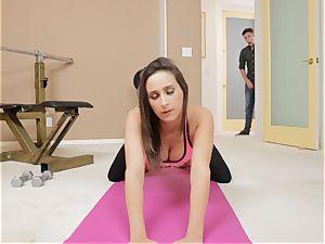 lurk and peep Sn trio Yoga stunner Ashley Adams gets surprise plow