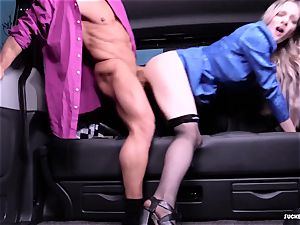 plumbed IN TRAFFIC - super hot car hook-up with british Carly Rae