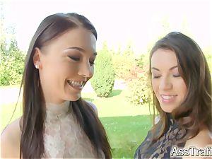 AssTraffic fabulous French honeys Angelik Duval and Tiffany chick