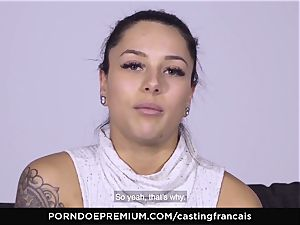 audition FRANCAIS - sumptuous first-timer first-ever pornography fuck