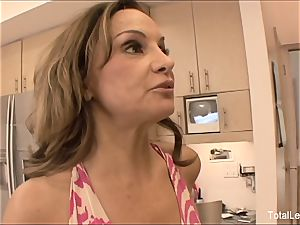 brown-haired ultra-cutie 69s with her ash-blonde stepmom