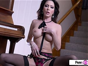 PornstarTease-Jessica gets bare and wank for all