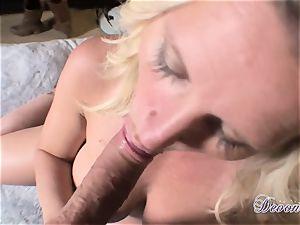 Devon Lee is enjoying her man's flog wedged in her fleshy jaws