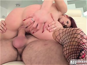 Tall damsel Mira's honeypot is porked and filled with jizz
