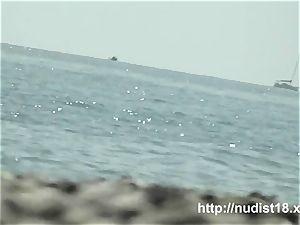 steamy bare dame spied beach hidden cam