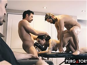 PURGATORY I let my wife drill two men in front of me