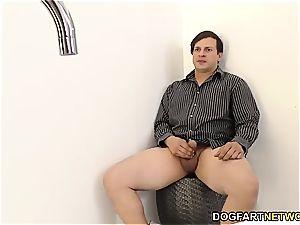 cheating boyfriend observes Nina Elle boinking big black cock