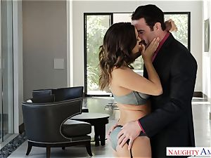 Married Ashley Adams hungers pecker deep in her coochie