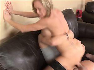 Stepmom Brandi love seduces her stepson