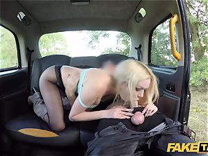 fake taxi british platinum-blonde hottie Amber Jayne