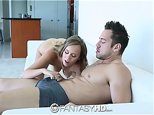 FantasyHD - Alexis Adams gets turned over and pulverized