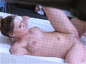 Brianna brown caught on spy cam as she nails
