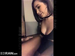 BLACKEDRAW Latina wifey squirts with 12 inch monster dark-hued schlong
