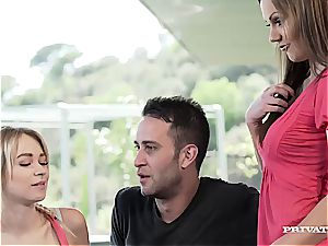 mummy Tina Kay Gets double penetration During intercourse with platinum-blonde...