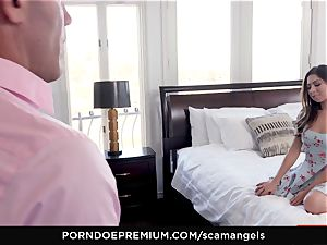 SCAM ANGELS - Gina Valentina group bang-out with molten honeys