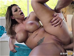 gorgeous Brooklyn chase bouncing on a yam-sized prick