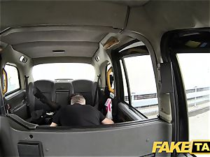 fake taxi female in mask gets humped in the backside