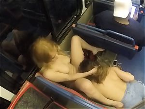 Ashley Adams and Camille Lixx public lesbo action