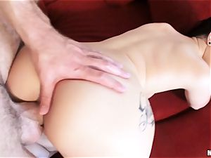 freshly wed Katrina Jade is lubricated up and drilled by her new husband