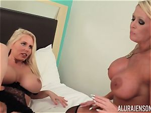 insatiable lesbians Alura Jenson tries out the moist minge of Karen Fisher