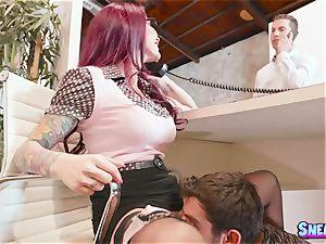 Monique Alexander - What the shag! My chief plumbs me under desk