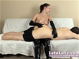 femdom spanking his booty with my hairbrush hands..