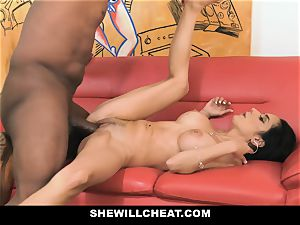SheWillCheat - super hot wife With immense Rack loves ebony beef whistle