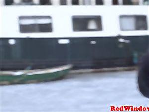curvy amsterdam escort being doggystyled