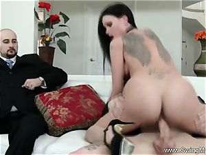 Exotic Swinger wifey humps Another boy