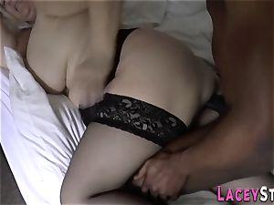 grandmother licks ebony impaler