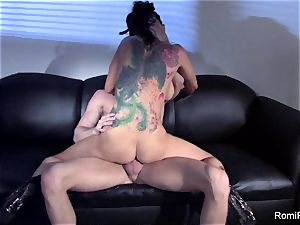 gorgeous Romi Rain teases and then gets poked firm