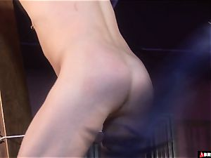 female dominance whips and manages until buttfuck internal cumshot