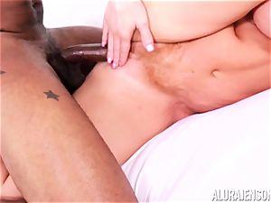 labia slammed Alura Jenson by ample black meatpipe and milky stud