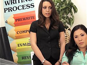 masters London Keyes and Jade Nile poke a college girls daddy