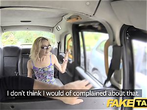 fake taxi bony puny platinum-blonde takes thick man-meat