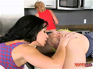 mummy plays around with kinky nubile with oblivious stepmom - Dylan Daniels, Lolo Punzel and Parker Swayze