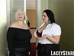 LACEYSTARR - nymphs spunked on their sizzling faces by big black cock